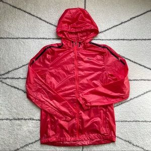 """Saucony Red """"Pack It"""" Running Jacket, Size Small"""